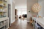 Kuchnia i salon w stylu skandynawskim