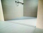 Prysznice z odpływem umieszczonym na poziomie podłogi